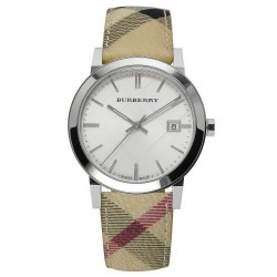 Orologio Unisex Burberry The City Nova Check BU9025