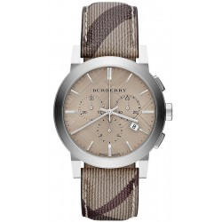 Orologio Uomo Burberry The City Nova Check BU9361 Cronografo