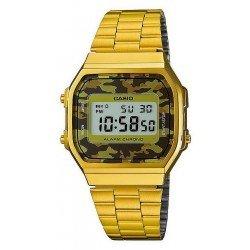 Orologio Unisex Casio Collection A168WEGC-5EF Mimetico Multifunzione Digitale
