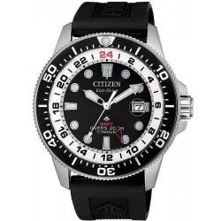 Orologio da Uomo Citizen Promaster Diver's Eco-Drive Super Titanio GMT BJ7110-11E