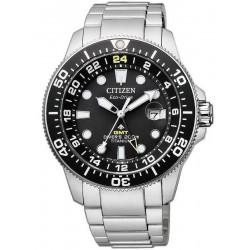 Orologio da Uomo Citizen Promaster Diver's Eco-Drive Super Titanio GMT BJ7110-89E