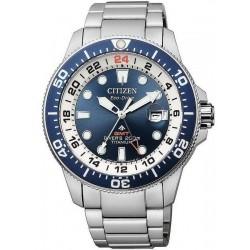 Orologio da Uomo Citizen Promaster Diver's Eco-Drive Super Titanio GMT BJ7111-86L