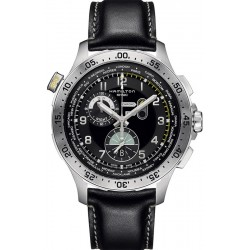 Orologio Hamilton Uomo Khaki Aviation Worldtimer Chrono Quartz H76714735