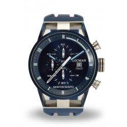 Orologio Locman Uomo Montecristo Cronografo Quartz 0510BLBLFWH0SIB