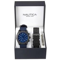 Orologio Nautica Uomo NST 402 Box Set NAI22508G Cronografo