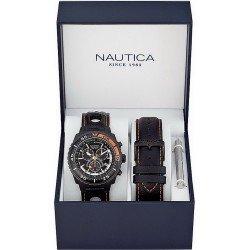 Orologio Nautica Uomo NST 700 Box Set A17636G Cronografo
