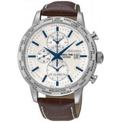 Orologio Seiko Uomo SPL051P1 World Time Cronografo Alarm Quartz