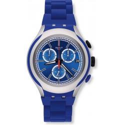 Orologio Swatch Uomo Irony Xlite Blue Attack Cronografo YYS4017AG