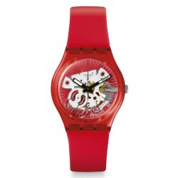 Comprare Orologio Swatch Unisex Gent Rosso Bianco GR178