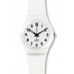 Orologio Swatch Unisex Gent Just White Soft GW151O