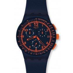 Orologio Swatch Unisex Chrono Plastic Rebirth Blue SUSN401