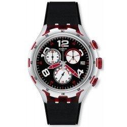 Orologio Swatch Uomo Irony Xlite Red Wheel YYS4004 Cronografo