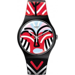 Orologio Swatch Unisex New Gent Mask Parade SUOB127