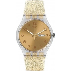 Comprare Orologio Swatch Donna New Gent Golden Sparkle SUOK704