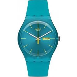Orologio Swatch Unisex New Gent Turquoise Rebel SUOL700