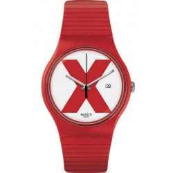 Orologio Swatch Unisex New Gent XX-Rated Red SUOR400