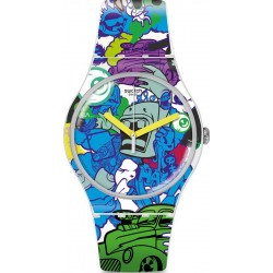Orologio Swatch Unisex New Gent Wall Paint SUOW133