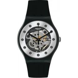 Orologio Swatch Unisex New Gent Silver Glam SUOZ147