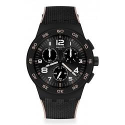 Comprare Orologio Swatch Uomo Chrono Plastic Black Cord SUSB106
