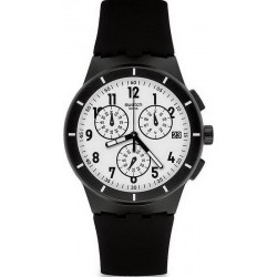 Orologio Swatch Unisex Chrono Plastic Twice Again Black SUSB401