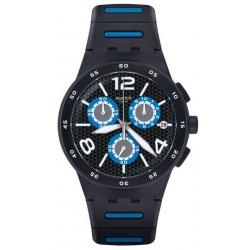 Orologio Swatch Uomo Chrono Plastic Black Spy SUSB410