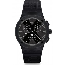 Orologio Swatch Uomo Chrono Plastic X-District Black SUSB413