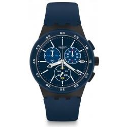 Orologio Swatch Uomo Chrono Plastic Blue Steward SUSB417