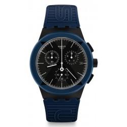 Orologio Swatch Unisex Chrono Plastic X-District Blue SUSB418