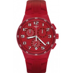 Orologio Swatch Unisex Chrono Plastic Red Step SUSR404