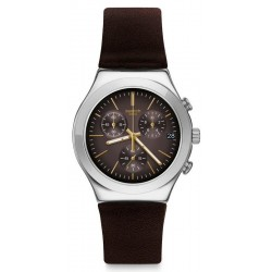 Orologio Swatch Uomo Irony Chrono Brownflect YCS600
