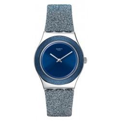 Orologio Swatch Donna Irony Medium Blue Sparkle YLS221