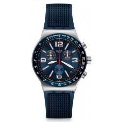 Orologio Swatch Uomo Irony Chrono Blue Grid YVS454