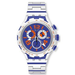 Orologio Swatch Uomo Irony Xlite Chemical Blue Cronografo YYS4011AG