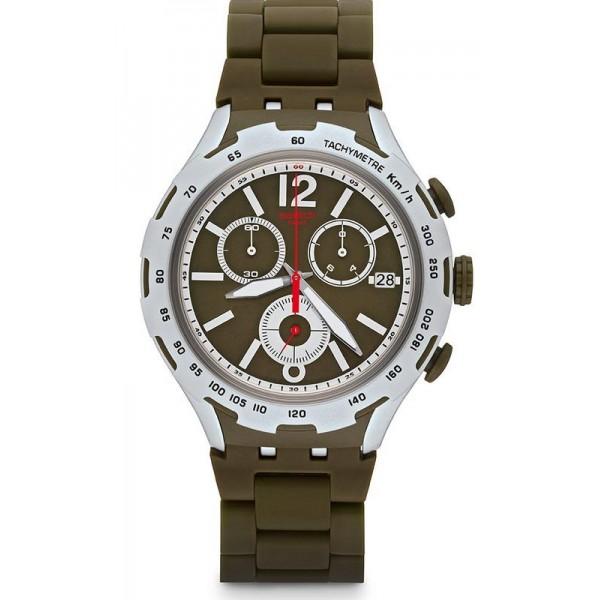 Comprare Orologio Swatch Uomo Irony Xlite Green Attack Cronografo YYS4022AG