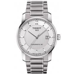 Orologio Uomo Tissot T-Classic Powermatic 80 Titanium T0874074403700