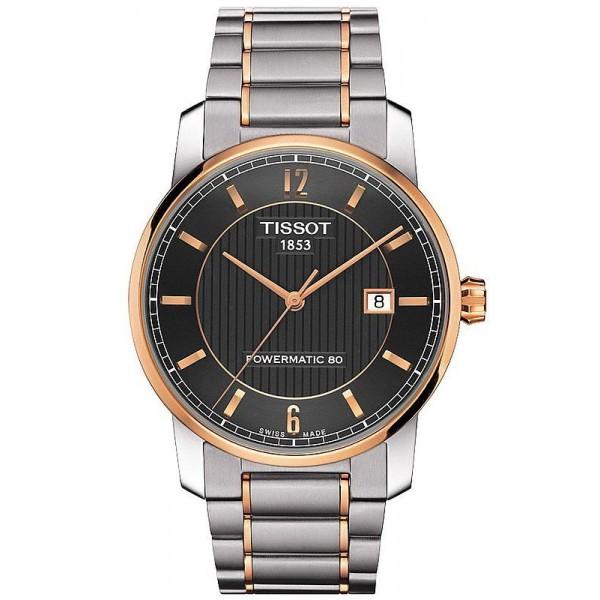 Comprare Orologio Uomo Tissot T-Classic Titanium Powermatic 80 T0874075506700
